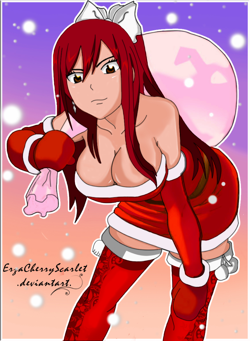 Erza Scarlet at Christmas by Mimilyn