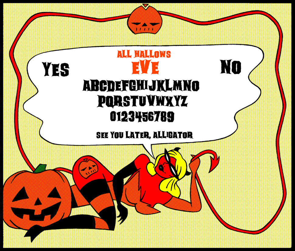 All Hallows Eve Spirit Board by ivy7om