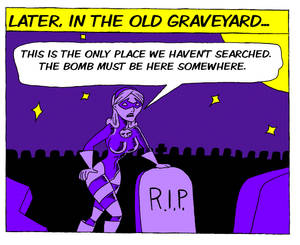 All Hallows Eve In The Old Graveyard