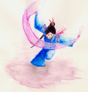 Watercolour girl by Lumarie