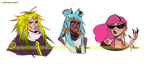 Punk Bust Adoptables Auction   Closed