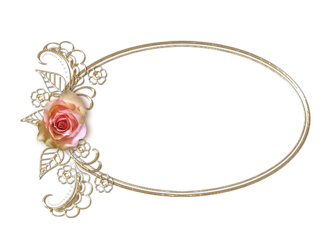 Black And Gold Frame Png Rose Oval By Alesscop