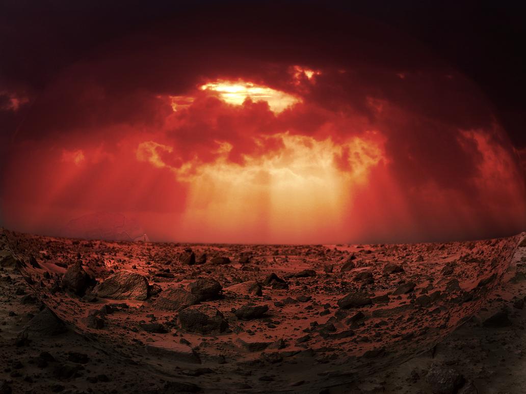 Mars sunset by drmctchr on deviantart - Mars sunset wallpaper ...
