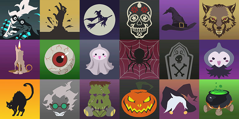Overwatch Halloween 2020 Player Icons Overwatch Halloween Player Icon Wallpaper (Tile) by