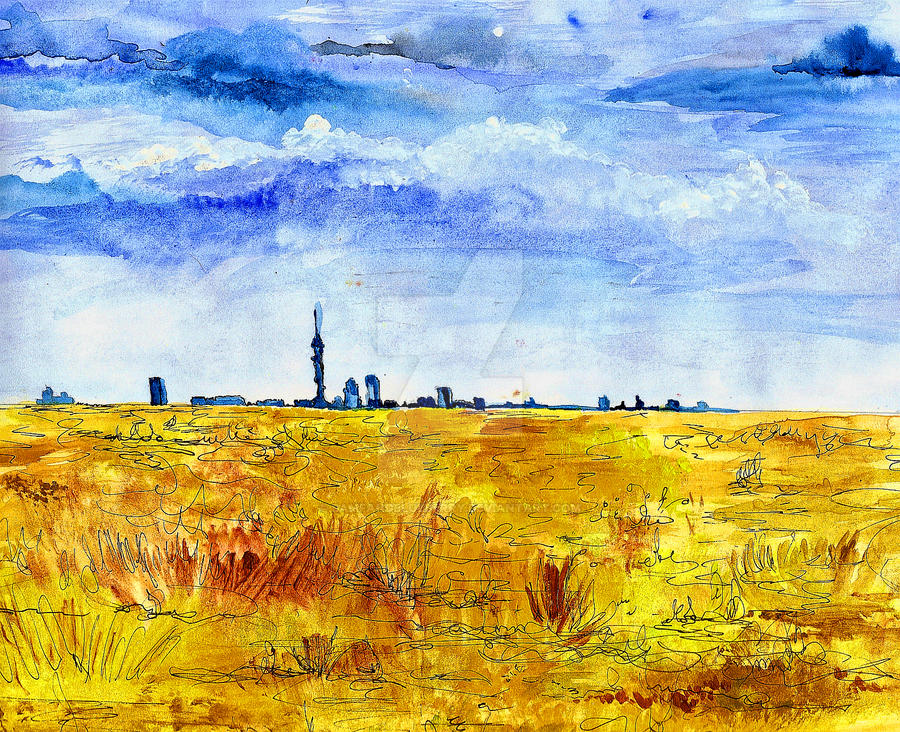 Skies Over Joburg by bamfandblueberry