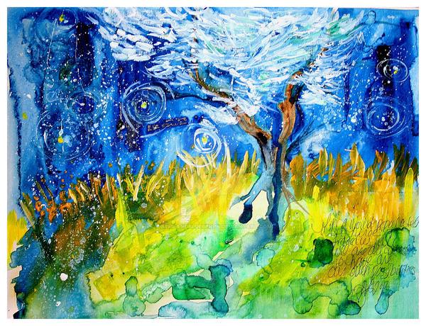 Vincent's Olive Tree by bamfandblueberry