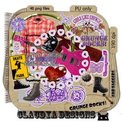 Grunge Rocks digital scrapbook