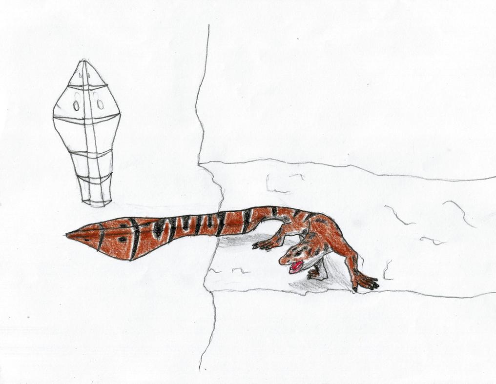 Rattlesnake Lizard by Newworlds117
