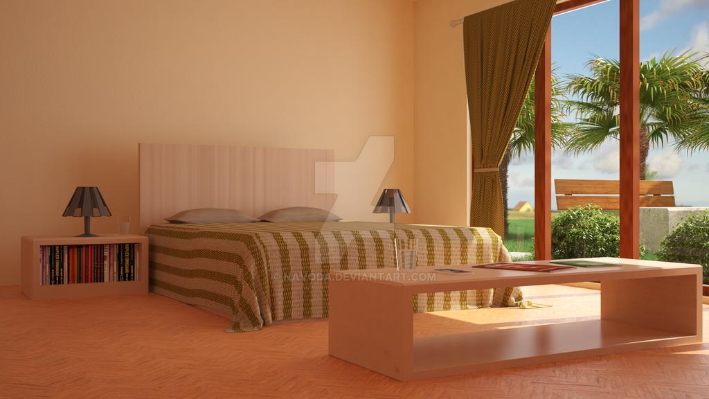 Bed Room 3D by Navoda