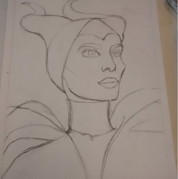 Maleficent outline