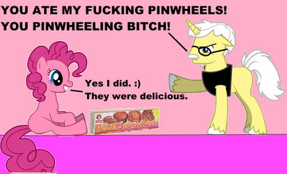 Pinkie Pie ate ALL of Angry Grandpony's pinwheels!