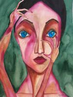 Gwena Christine Original Watercolor Painting