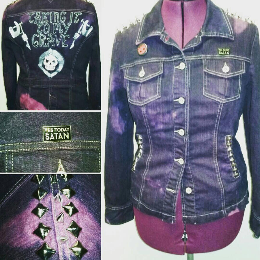 Taking It To My Grave punk jacket  by Sew-it-all