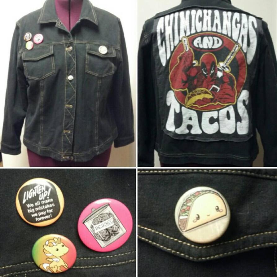Deadpool Black Punk Jacket by Sew-it-all