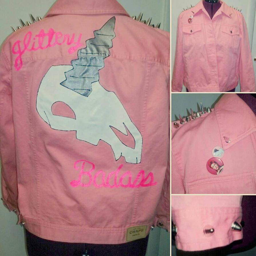 Glittery Badass Punk Unicorn by Sew-it-all