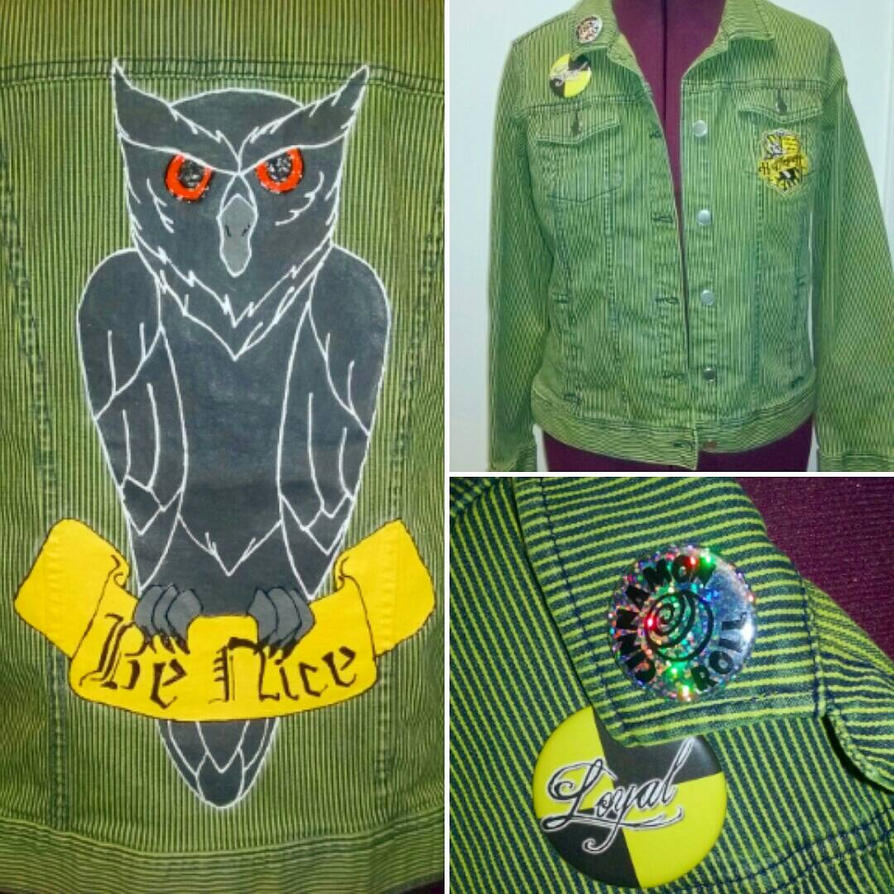 Owl of Hufflepuff Jacket  by Sew-it-all