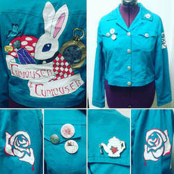 Alice In Wonderland Punk Jacket by Sew-it-all