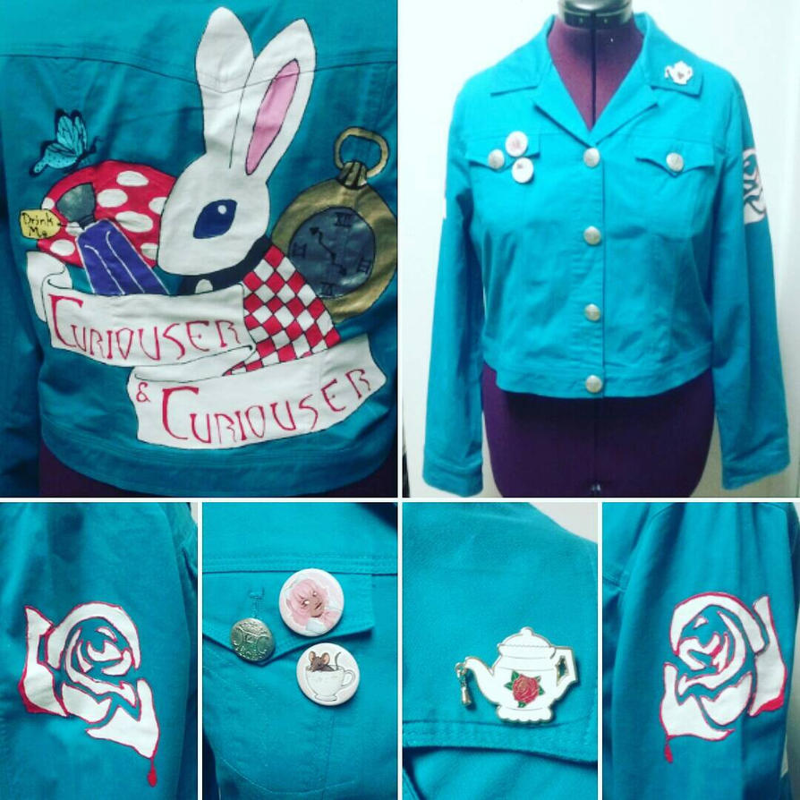 Alice In Wonderland Punk Jacket by Sew-it-all