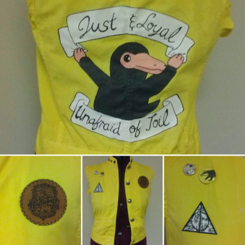 Niffler HUFFLEPUFF vest by Sew-it-all