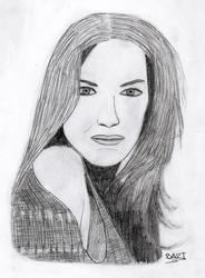 Evangeline Lilly portrait by b4pt