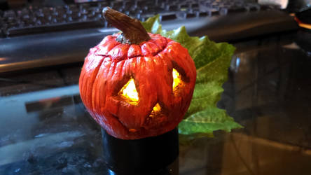 Sculpey light up Jack o' Lantern by lostgirl19