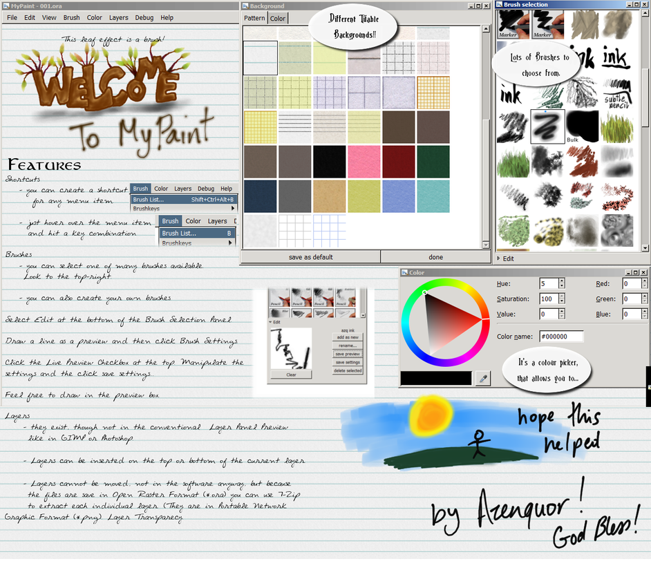 MyPaint 0.7.1 Tutorial by Azenquor