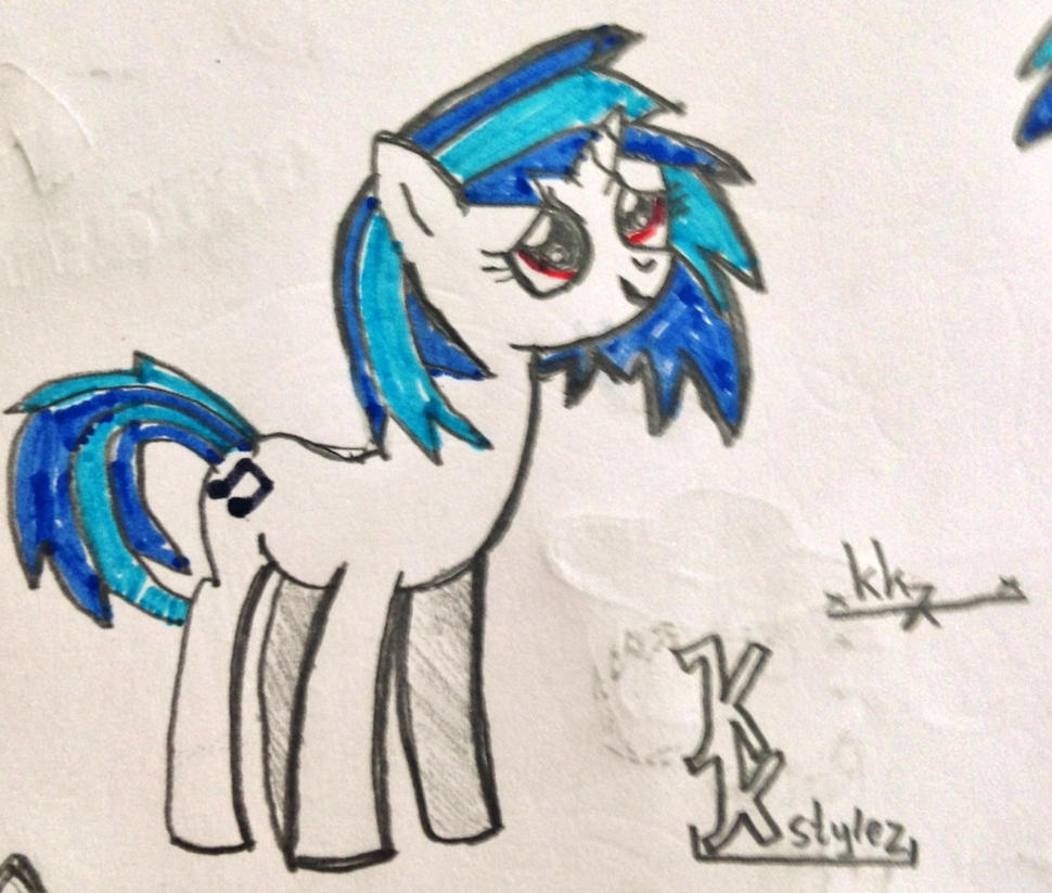 Drawing Vinyl Scratch Looking In The Air By Karmakstylez