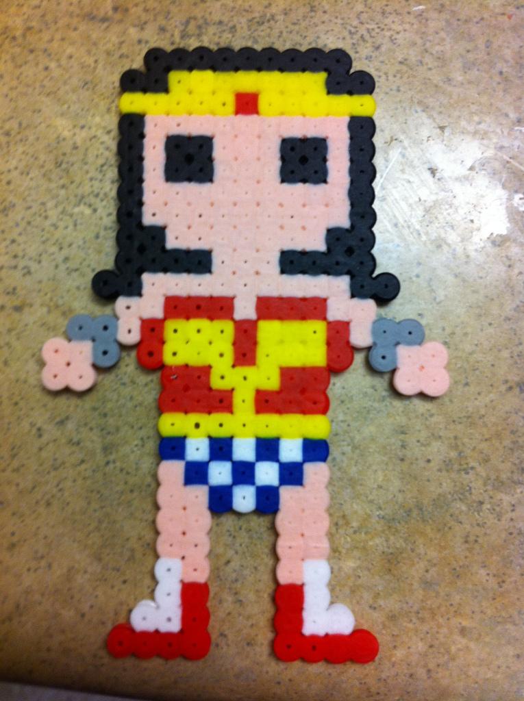 Wonder Woman Bead Sprite by fmagirl09