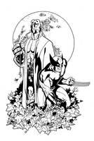 Wolverine and Hellboy by Guy-Bigbelly