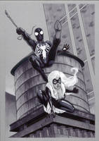 SpiderMan and Black Cat by Guy-Bigbelly