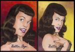 Bettie Page AP Sketchcards.