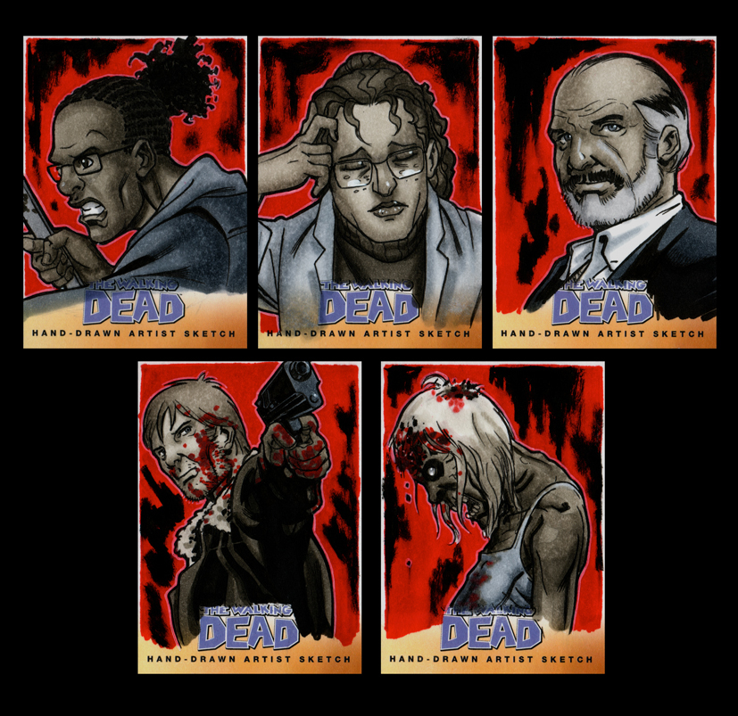 The Walking Dead Comic Book Sketchcards Set 2 By Guy Bigbelly