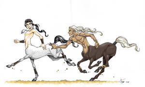 Centaur Chase by ConnyChiwa