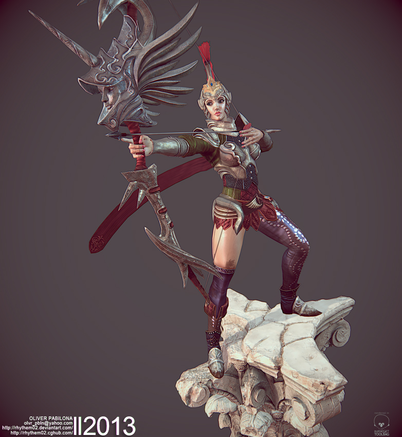 Roman Archer (Game Art) - Pose01 by Rhythem02
