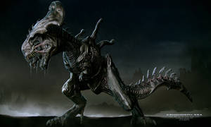 Xenomorph - Rex - Illustration Front by Rhythem02