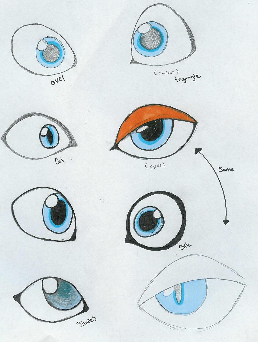 Как сделать нарисовать глаза