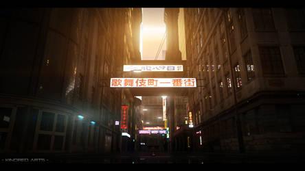 CyberPunk City Final by KindredArts