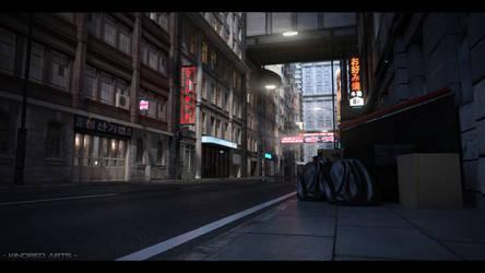 CyberPunk City Day by KindredArts