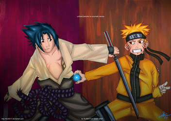 naruto vs sasuke by fly30017