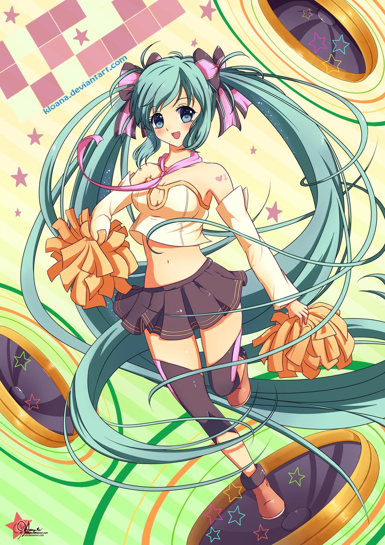 Cheerful Miku by KirasElixir
