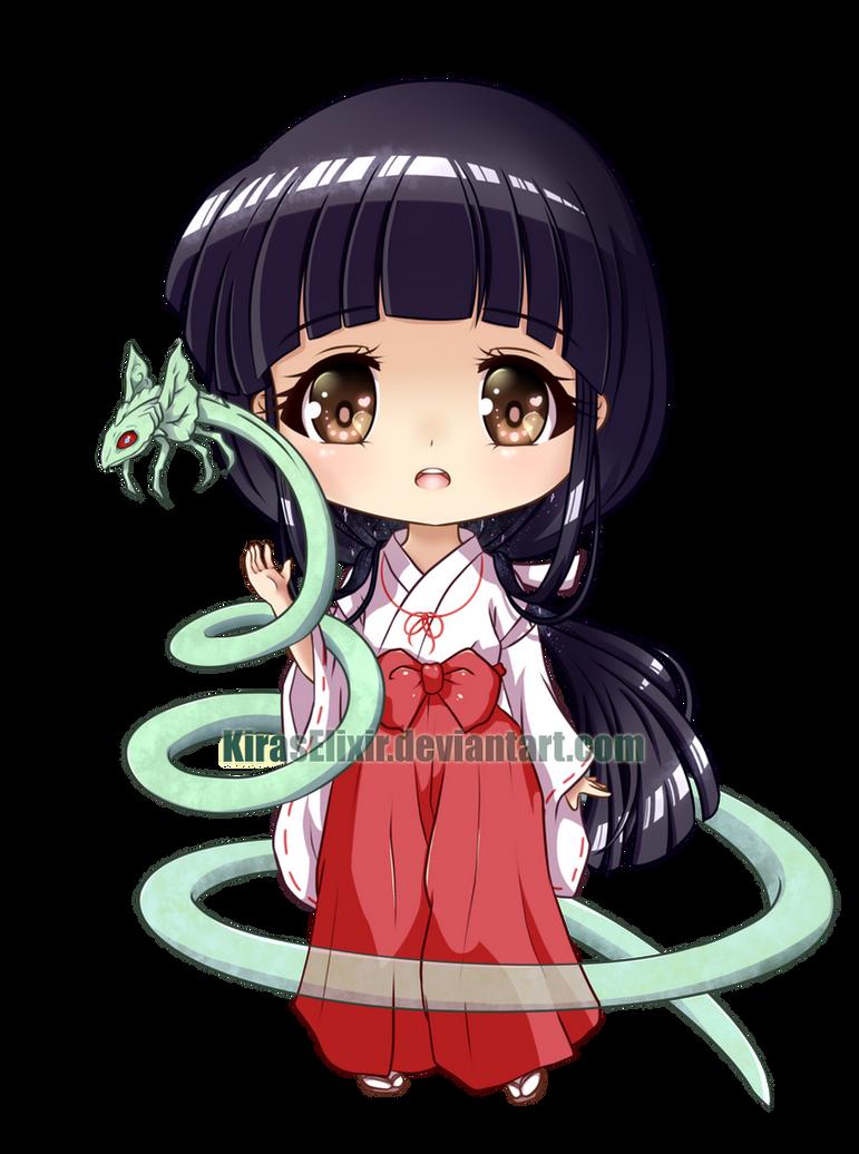 Anime Characters Chibi : Chibi kikyo by kiraselixir on deviantart