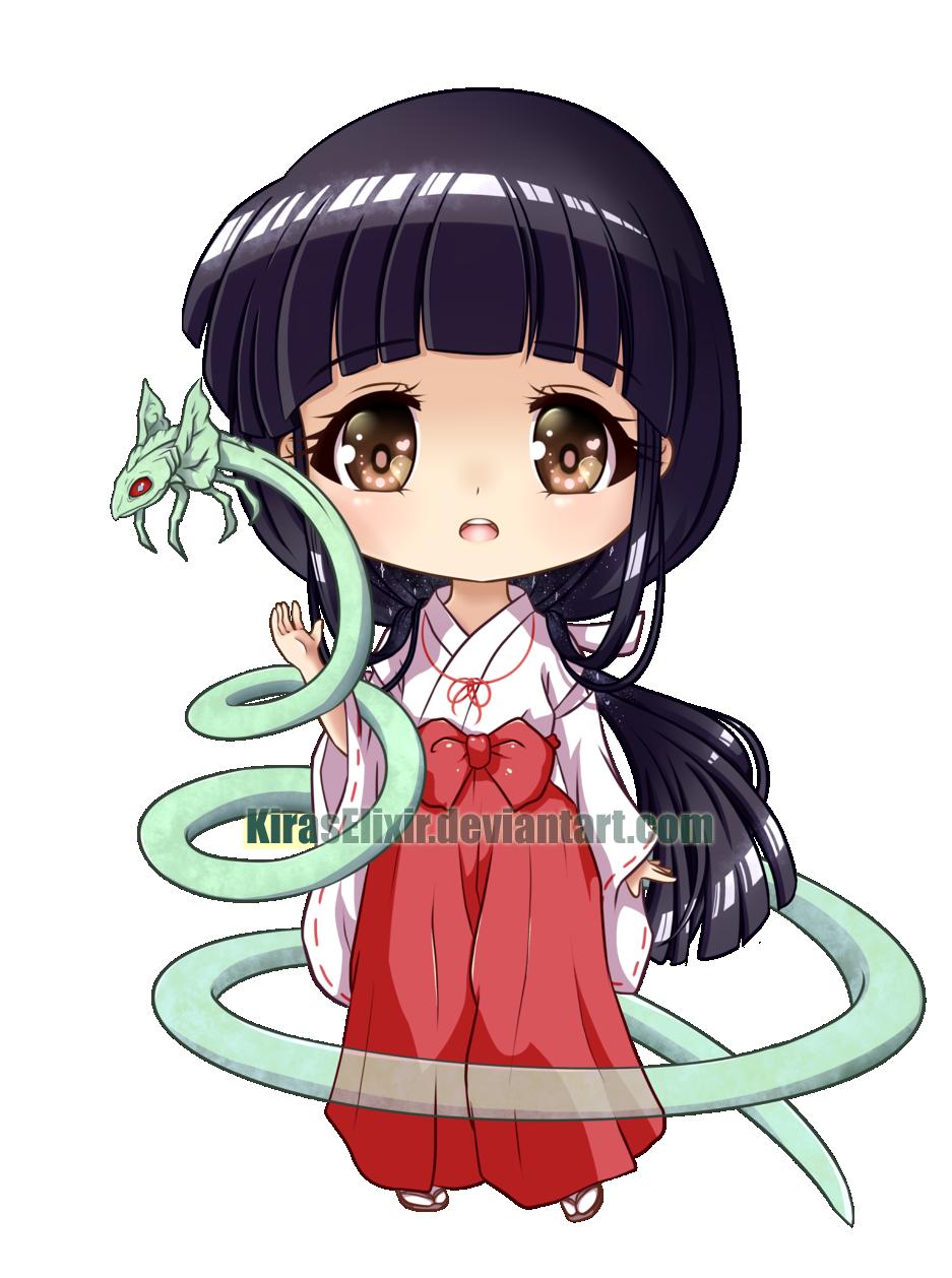 X And Y Anime Characters : Chibi kikyo by kiraselixir on deviantart