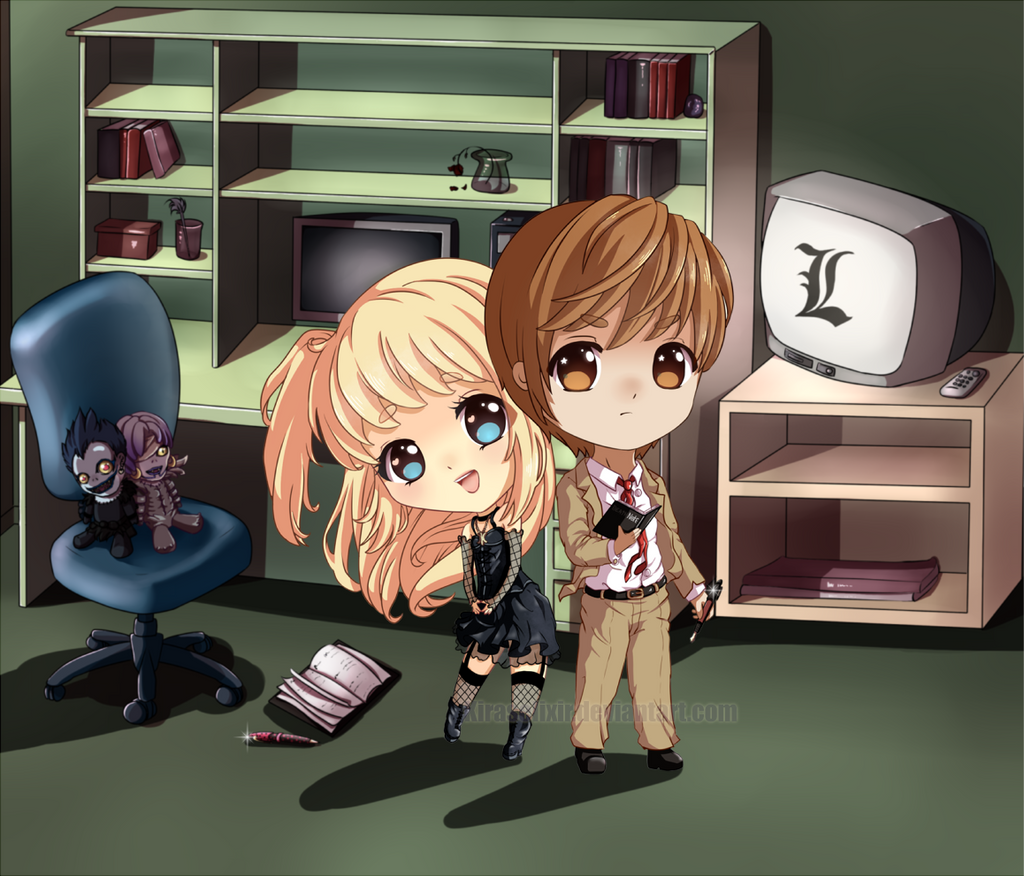 Light x Misa Chibi by KirasElixir