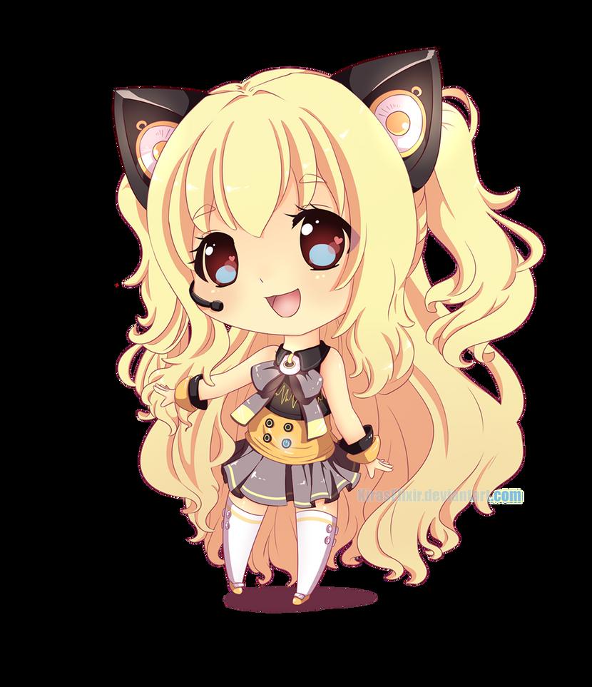 Anime Glasses Girl Chibi