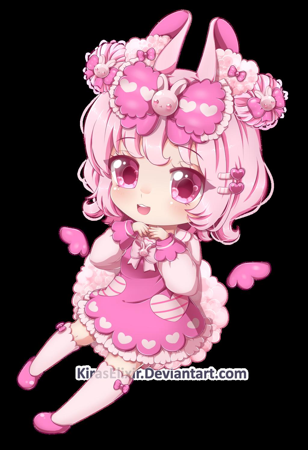 C: BiPinkBunny 02 by KirasElixir