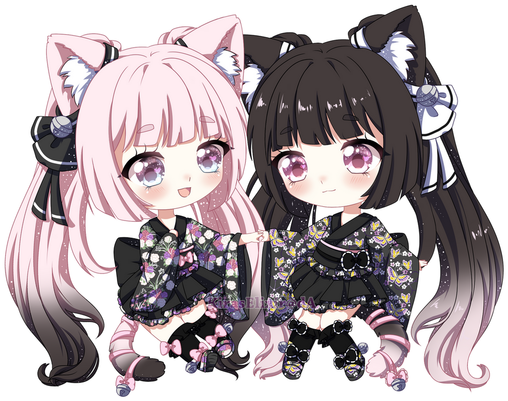 OC: Yokai Twins by KirasElixir