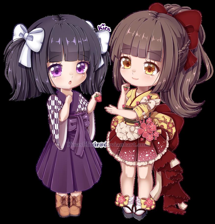 C: Kaoruko and Hina by KirasElixir