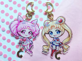 Sailor Moon 3 inch double sided charms