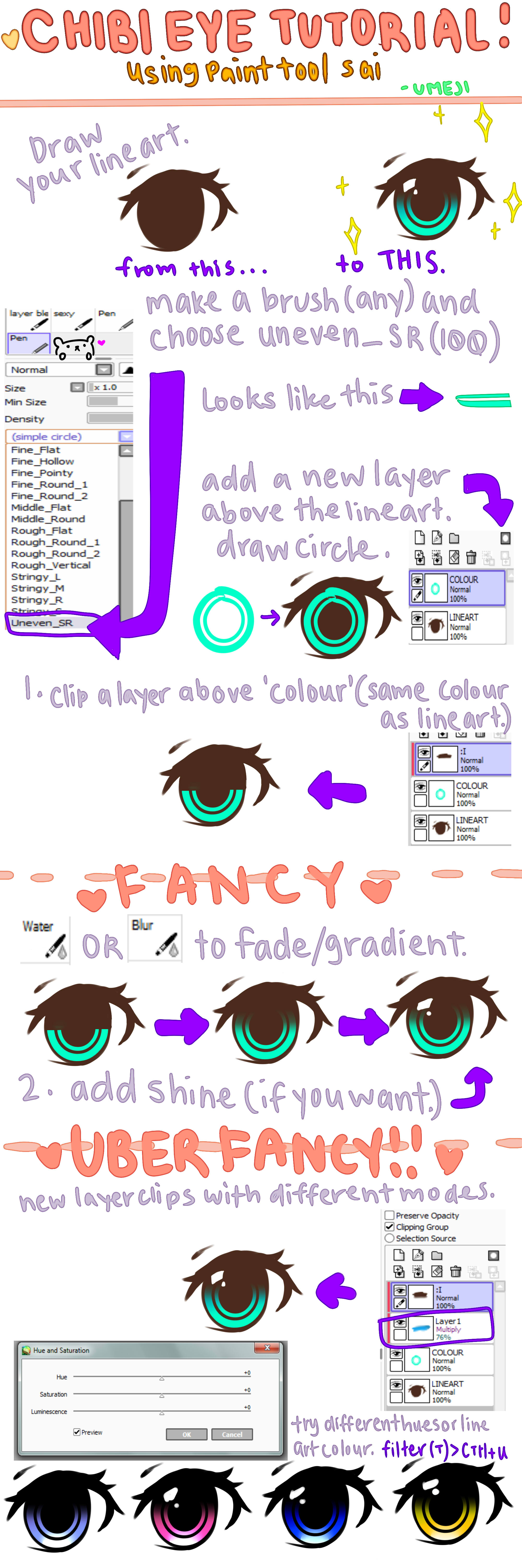 Chibi Eye Tutorial by UMEJI
