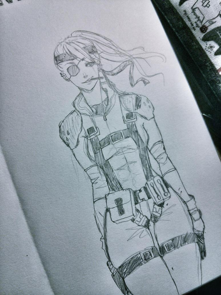 Gender bend of Snake MGS by UMEJI